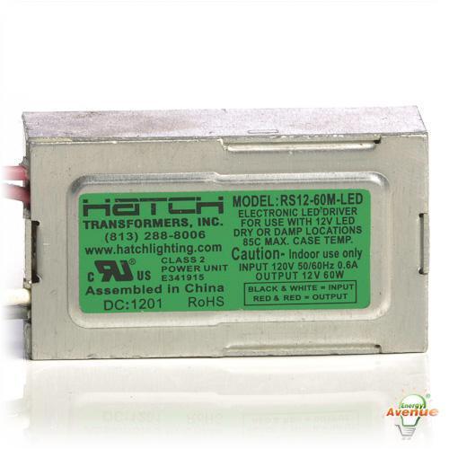 Hatch Led Drivers >> Hatch Lighting Rs12 60m Led 60w A C Led Driver